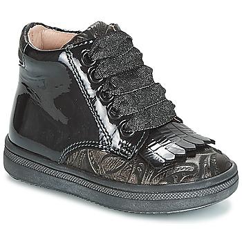 Čevlji  Deklice Visoke superge Acebo's DOLAGIRI Črna / Srebrna
