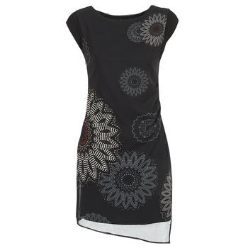 Oblačila Ženske Kratke obleke Desigual SANDRINI Črna