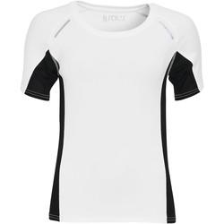Oblačila Ženske Majice s kratkimi rokavi Sols CAMISETA RUNNING MANGA CORTA MUJER Blanco
