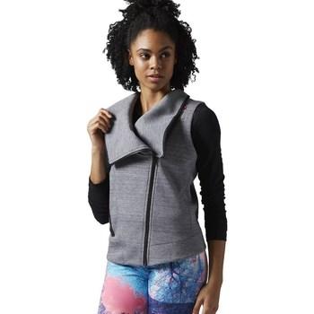 Oblačila Ženske Puloverji Reebok Sport Lhs Quick Siva