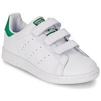 Čevlji  Otroci Nizke superge adidas Originals STAN SMITH CF C Bela / Zelena