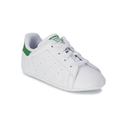 Čevlji  Otroci Nizke superge adidas Originals STAN SMITH CRIB Bela / Zelena