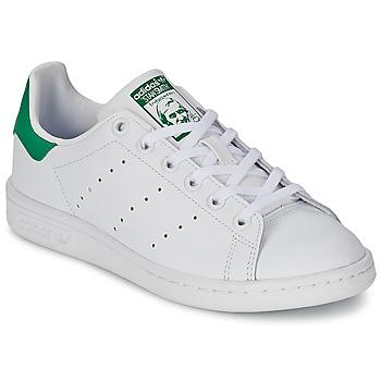 Čevlji  Otroci Nizke superge adidas Originals STAN SMITH J Bela / Zelena