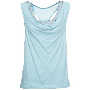 Oblačila Ženske Majice brez rokavov Bench SKINNIE Modra