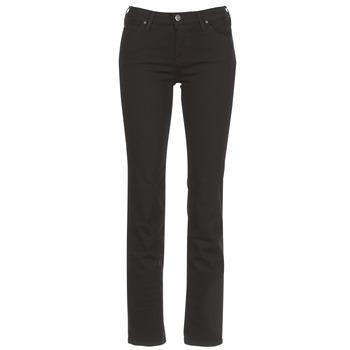 Oblačila Ženske Jeans straight Lee MARION STRAIGHT Črna