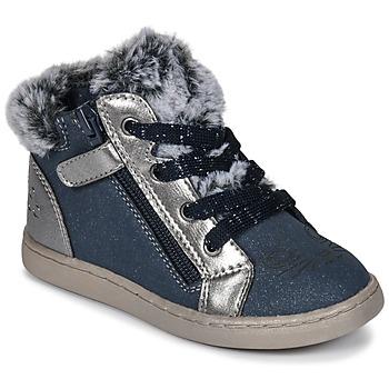 Čevlji  Deklice Visoke superge Mod'8 OUMINOU Modra