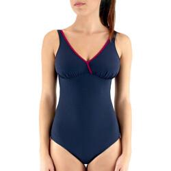 Oblačila Ženske Enodelne kopalke Janine Robin 991645-17 Modra