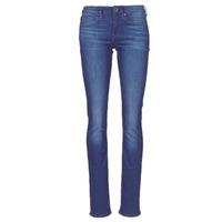 Oblačila Ženske Jeans straight G-Star Raw MIDGE SADDLE MID STRAIGHT Modra / Sepraná