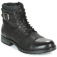 Čevlji  Moški Polškornji Jack & Jones ALBANY LEATHER Črna