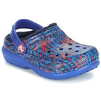 Čevlji  Otroci Cokli Crocs CLASSIC LINED GRAPHIC CLOG K Niebieski