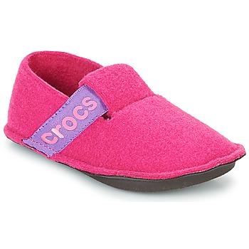 Čevlji  Deklice Nogavice Crocs CLASSIC SLIPPER K Rožnata