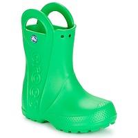 Čevlji  Otroci škornji za dež  Crocs HANDLE IT RAIN BOOT KIDS Zelena