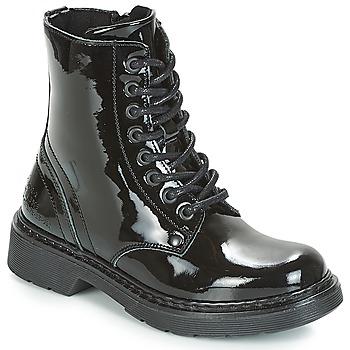Čevlji  Deklice Polškornji Bullboxer LANA Črna / Patent
