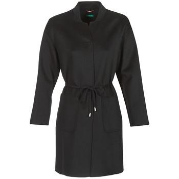 Oblačila Ženske Plašči Benetton MARBELLO Črna