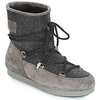 Čevlji  Ženske Škornji za sneg Moon Boot FAR SIDE LOW SUEDE GLITTER Črna / Siva
