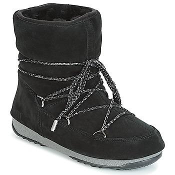 Čevlji  Ženske Škornji za sneg Moon Boot LOW SUEDE WP Črna