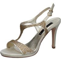 Čevlji  Ženske Sandali & Odprti čevlji Bacta De Toi sandali platino raso strass BY95 Altri