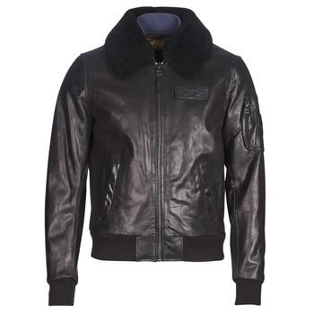 Oblačila Moški Usnjene jakne & Sintetične jakne Redskins COMMANDER STRIKING Črna