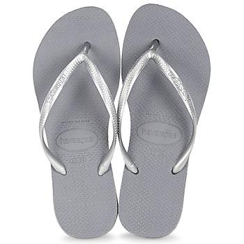 Čevlji  Ženske Japonke Havaianas SLIM Siva / Ocelová