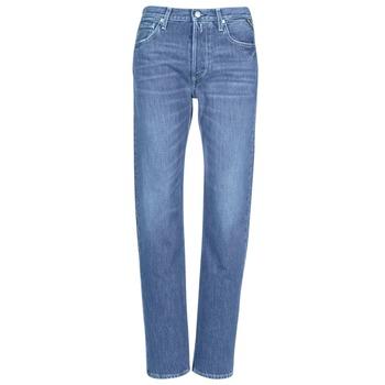 Oblačila Ženske Jeans boyfriend Replay ALEXIS Modra