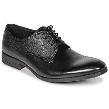 Čevlji  Moški Čevlji Derby Clarks GILMORE Črna / Kožna
