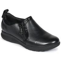 Čevlji  Ženske Čevlji Derby Clarks Un Adorn Zip Črna