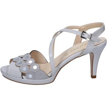 Čevlji  Ženske Sandali & Odprti čevlji Olga Rubini sandali grigio vernice camoscio BY358 Grigio