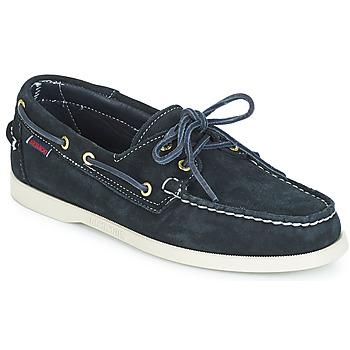 Čevlji  Moški Mokasini & Jadralni čevlji Sebago DOCKSIDES SUEDE Modra