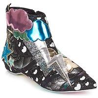 Čevlji  Ženske Polškornji Irregular Choice Electric boots Črna / Silver