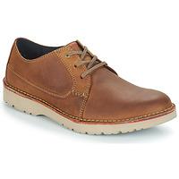 Čevlji  Moški Čevlji Derby Clarks VARGO PLAIN Kostanjeva