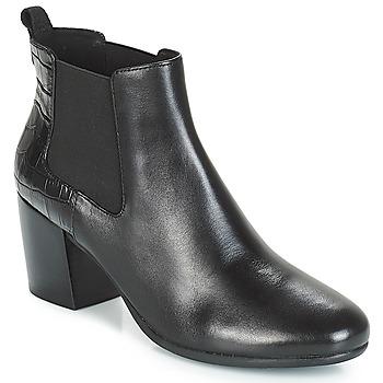 Čevlji  Ženske Gležnjarji Geox D NEW LUCINDA Črna