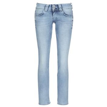 Oblačila Ženske Jeans straight Pepe jeans VENUS Modra / Svetla