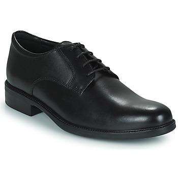 Čevlji  Moški Čevlji Derby Geox CARNABY D Črna
