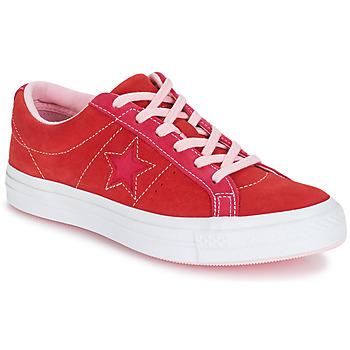 Čevlji  Ženske Nizke superge Converse ONE STAR OX Rdeča / Rožnata