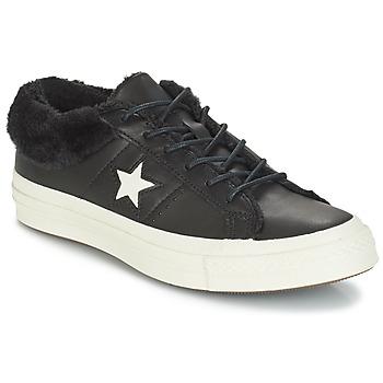 Čevlji  Ženske Nizke superge Converse ONE STAR LEATHER OX Črna