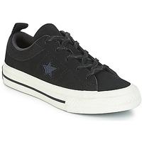 Čevlji  Otroci Nizke superge Converse ONE STAR NUBUCK OX Črna / Bela