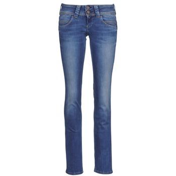 Oblačila Ženske Jeans straight Pepe jeans VENUS Modra