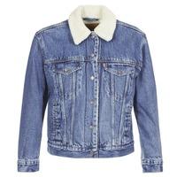 Oblačila Ženske Jeans jakne Levi's EX-BF SHERPA TRUCKER Addicted / To / Love
