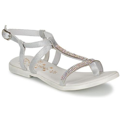 Čevlji  Deklice Sandali & Odprti čevlji Acebo's MADALEN Srebrna