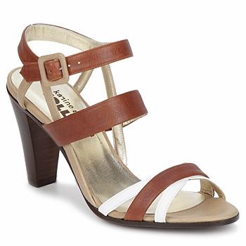Čevlji  Ženske Sandali & Odprti čevlji Karine Arabian JOLLY Cognac / Bež / Bela
