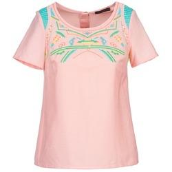 Oblačila Ženske Topi & Bluze Color Block ADRIANA Rožnata