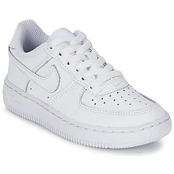 Čevlji  Otroci Nizke superge Nike AIR FORCE 1 Bela