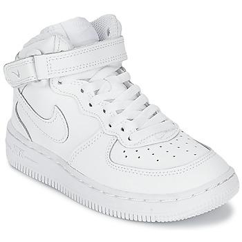 Čevlji  Otroci Visoke superge Nike AIR FORCE 1 MID Bela