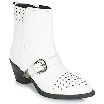 Čevlji  Ženske Gležnjarji Geox D LOVAI Bela