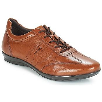 Čevlji  Moški Čevlji Derby Geox UOMO SYMBOL Kostanjeva