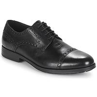 Čevlji  Moški Čevlji Derby Geox U HILSTONE 2FIT Črna