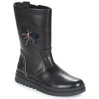 Čevlji  Deklice Mestni škornji    Geox J GILLYJAW GIRL Črna