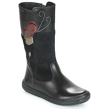 Čevlji  Deklice Mestni škornji    Geox J HADRIEL Črna