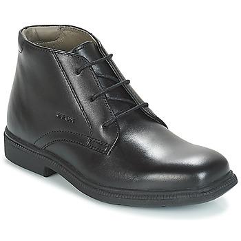 Čevlji  Dečki Polškornji Geox JR FEDERICO Črna