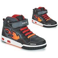 Čevlji  Dečki Visoke superge Geox JR GREGG Črna / Rdeča